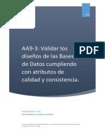 AA9-3 Validar Los Diseños de Las Bases de Datos - MA FERNANDA ALVAREZ GALLARDO