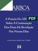 Walter J. Chantry, outros - Sobre A Continuação dos Dons de Revelação Nos Nossos Dias (ARBCA).pdf