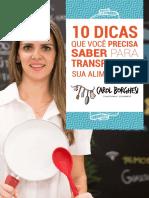 CAROL BORGHESI - 10 DICAS PARA TRANSFORMAR SUA ALIMENTAÇÃO