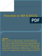 Overview of RSF & IDCOL