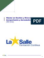 Master en Gestion y Direccion Aeroportuaria y Aeronautica