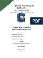 Monografía Fisica - Trabajo y Energía