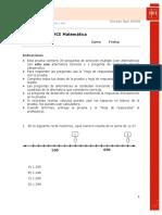 Evaluación Tipo Simce-matemática