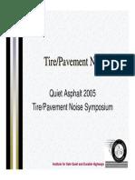 Tire Pavement Noise