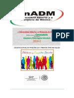 Licenciatura en Politicas y Proyectos Sociales Campaña de Publicidad