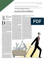 Rescatando La Gobernabilidad Roberto Abusada El Comercio