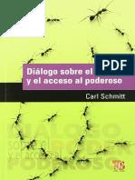 Diálogo Sobre El Poder y El Acceso Al Poderoso - Carl Schmitt