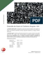Abrasivos Granalla Acero Carbono Angular Grit Ficha Tecnica Cym Blasting