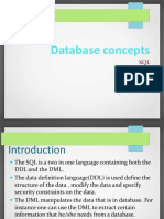 Database Concepts and Data Processingsql