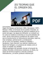 Principales Teorias Que Explican El Origen Del Petroleo1