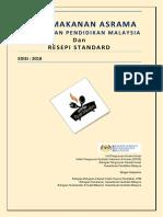 Buku Menu Makanan Asrama Kpm & Resepi Standard 2018