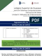 EDD-U5 Metodos de Ordenamiento-2016