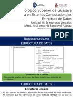 EDD U3 Estructuras Lineales 2016