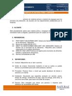 MP Procedimiento de Compras Materia Prima y Empaque