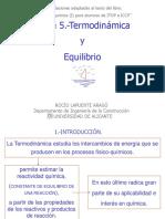 Tema 5.-Termodinámica y Equilibrio