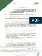 CIRCULAR No 03 de 2012 Credenciales Personal Operativo