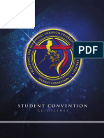 Student Convention Guidelines 2017 Revision