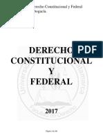 Derecho Constitucional y Federal