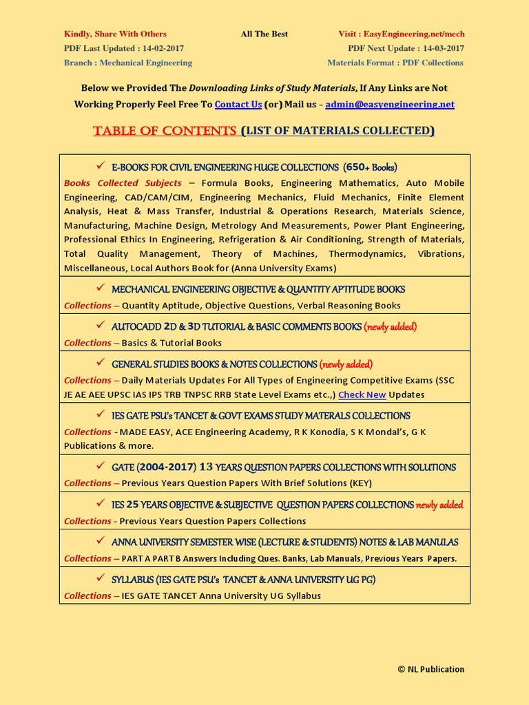 Mechanical Engineering Objective Type Ebook