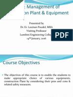 Plant Management