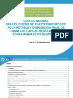 Guía de Disposición de Excretas y Aguas Residuales Julio 2011 Dos (8)