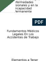 Criterios en Los Accidentes de Trabajo , Enfermedades