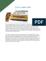 DIY Stereo Yiroshi Power Amplifier 1400W - Electronic Circuit
