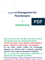 Conflict Management for Peacekeepers
