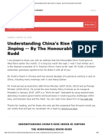 Understanding China's Rise Under Xi Jinping -- By the Honourable Kevin Rudd