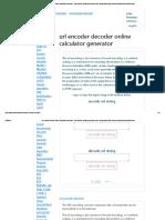 Url Encoder Decoder String Online