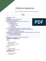 Teoría sobre las Competencias Matemáticas