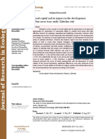 The study of social capital and its impact on the development of urban areas (case study