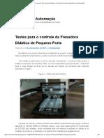 Testes Para o Controle Da Fresadora Didática de Pequeno Porte _ Repositório Da Automação