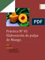 Elaboracion de Pulpa de Mango