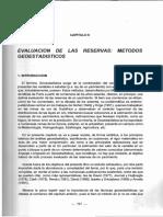 Evaluación de Las Reservas Métodos Geoestadísticos