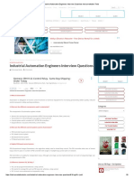 Industrial Automation Engineers Interview Questions Instrumentation Tools
