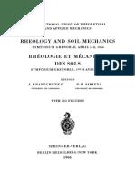 Rheology and Soil Mechanics Rh Ologie Et M Canique Des Sols Symposium Grenoble April 1-8-1964 Symposium Grenoble 1Er 8 Avril 1964