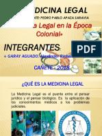 Medicina Legal en La Época Colonial-trabajo