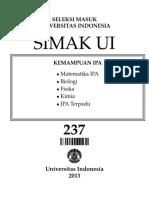 Pembahasan Simak UI 237 Th 2013