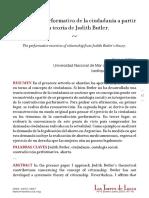 El ejercicio performativo de la ciudadanía a partir de la teoría de Judith Butler