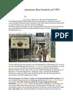 Bereitet Sich Guantanamo Bay Heimlich Auf VIPs Vor