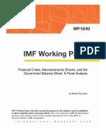 Financial Crises, Macroeconomic Shocks, and the Government Balance Sheet
