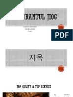 Plan DE AFACERE RESTAURANT KOREAN
