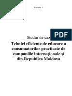 Tehnici eficiente de educare a consumatorilor practicate de companiile internaționale și din Republica Moldova