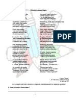 Teste Poema Lapis 6º Ano Adaptado