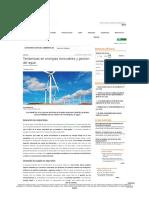 Tendencias en Energías Renovables y Gestion Del Agua