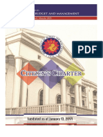 Approved Dbm Citizen's Charter