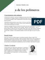 Historia de Los Polímeros