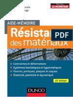 Aide Mémoire Résistance Des Matériaux 10 e Edition - Dunod