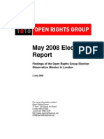 May 2008 Election  Report